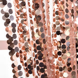 "Pack of 2 | 52""x84"" Big Payette Sequin Curtains With Rod Pocket Window Treatment Panels - Rose Gold 