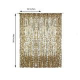 "Pack of 2 | 52""x84"" Champagne Big Payette Sequin Curtains With Rod Pocket Window Treatment Panels"