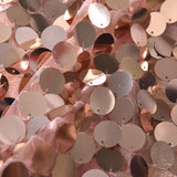 "Pack of 2 | 52x96"" Big Payette Sequin Window Treatment Home Decor Curtain Backdrop Panels With Rod Pockets- Rose Gold 