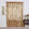 "Pack of 2 | 52x96"" Gold Big Payette Sequin Window Treatment Home Decor Curtain Backdrop Panels With Rod Pockets"