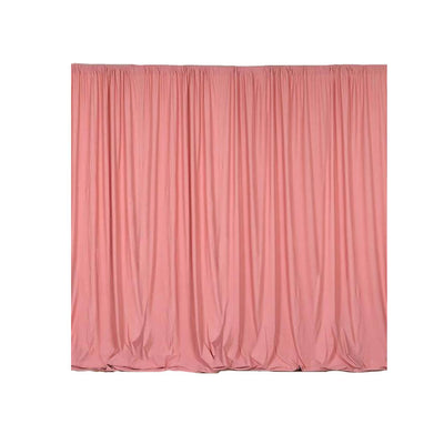 Pack of 2 | 5FTx10FT Rose Quartz Fire Retardant Polyester Curtain Panel Backdrops With Rod Pockets