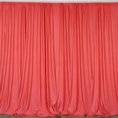 10FT Coral Polyester Curtain Stage Backdrop Partition - Premium Collection