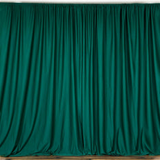 10FT Hunter Green Polyester Curtain Stage Backdrop Partition - Premium Collection