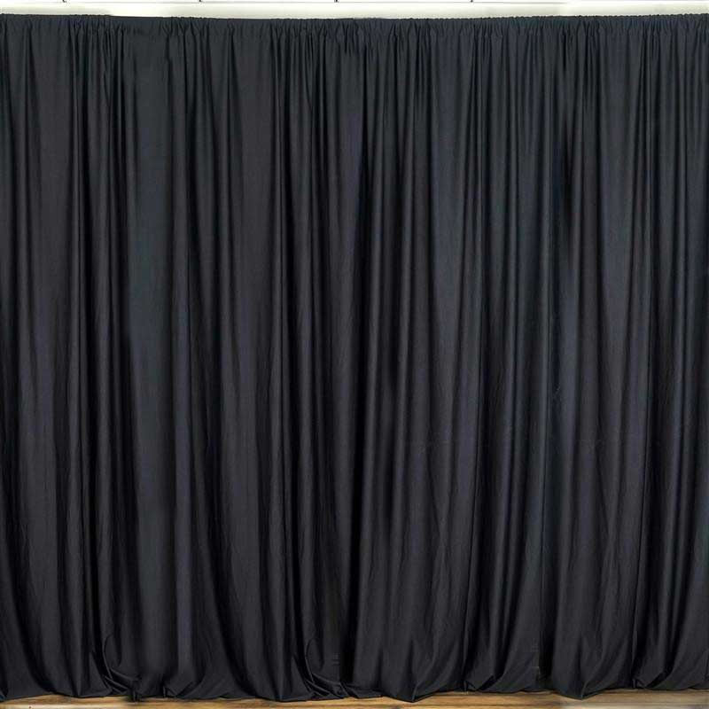 10ft Black Polyester Curtain Stage Backdrop Partition