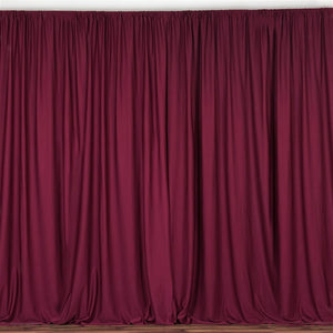 10FT Burgundy Polyester Curtain Stage Backdrop Partition - Premium Collection