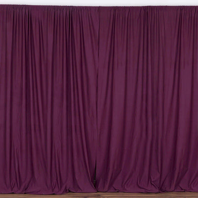 10FT Eggplant Polyester Curtain Stage Backdrop Partition - Premium Collection