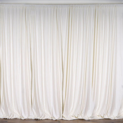 10FT Ivory Polyester Curtain Stage Backdrop Partition - Premium Collection