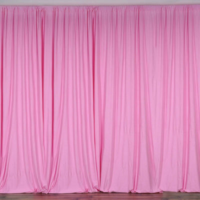 10FT Pink Polyester Curtain Stage Backdrop Partition - Premium Collection