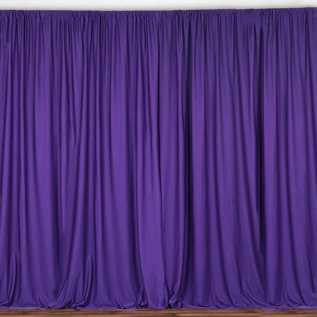 10ft Purple Polyester Curtain Stage Backdrop Partition