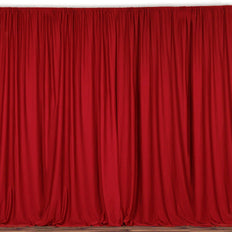 10FT Red Polyester Curtain Stage Backdrop Partition - Premium Collection
