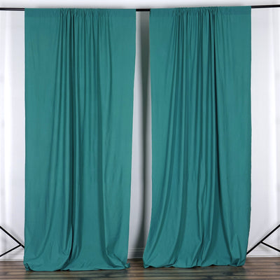 10FT Turquoise Polyester Curtain Stage Backdrop Partition - Premium Collection
