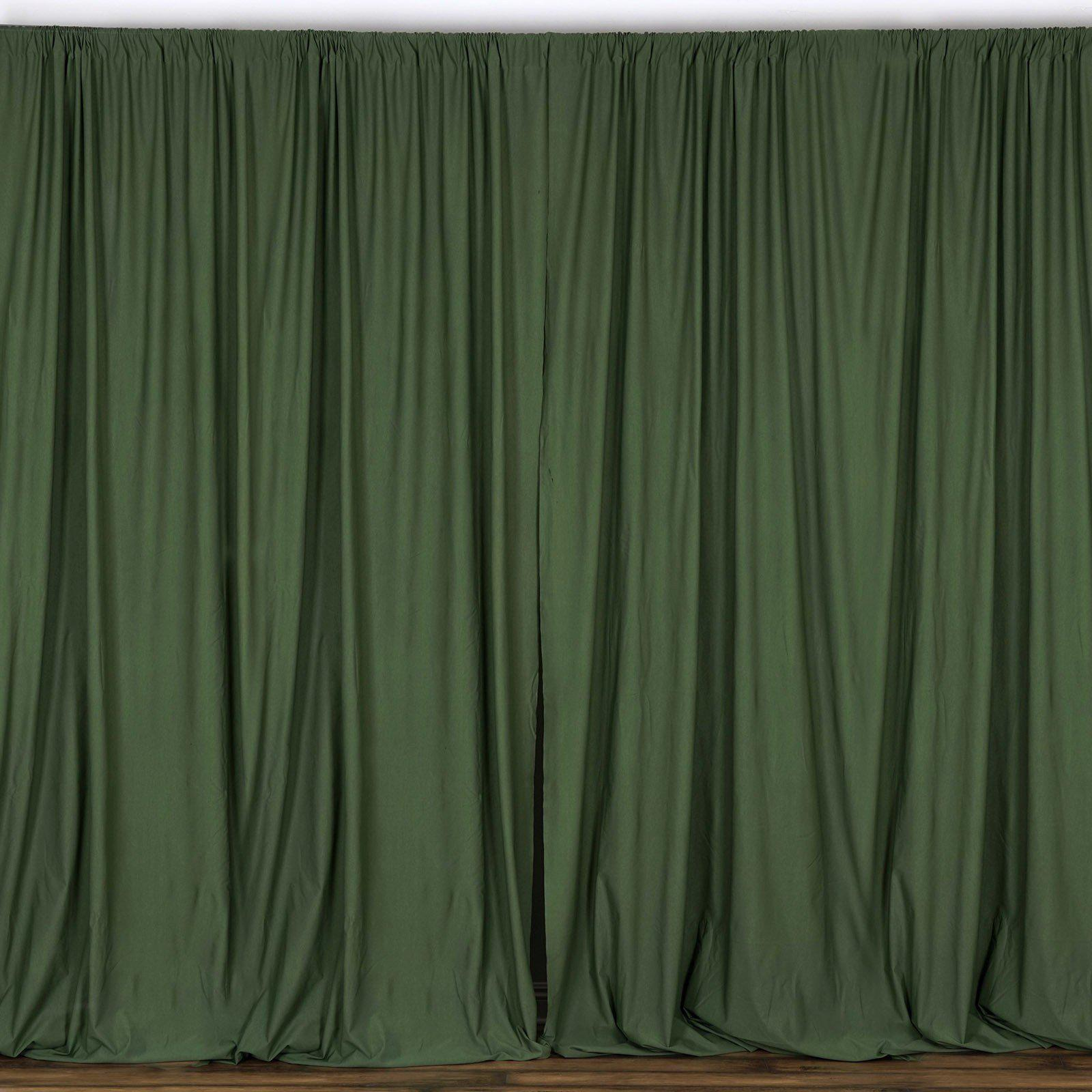 10FT Willow Green Polyester Fire Retardant Curtain Stage Backdrop Partition