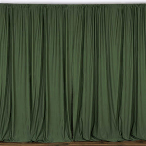 10FT Willow green Polyester Fire Retardant Curtain Stage Backdrop Partition - Premium Collection