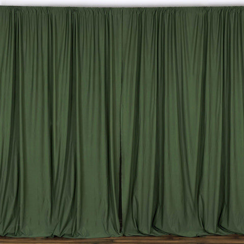 10FT Willow Green Polyester Fire Retardant Curtain Stage Backdrop