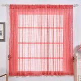 "2 Pack | 52""x64"" Coral Sequin Curtains With Rod Pocket Window Treatment Panels"