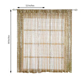 "Pack of 2 | 52""x64"" Champagne Sequin Curtains With Rod Pocket Window Treatment Panels"