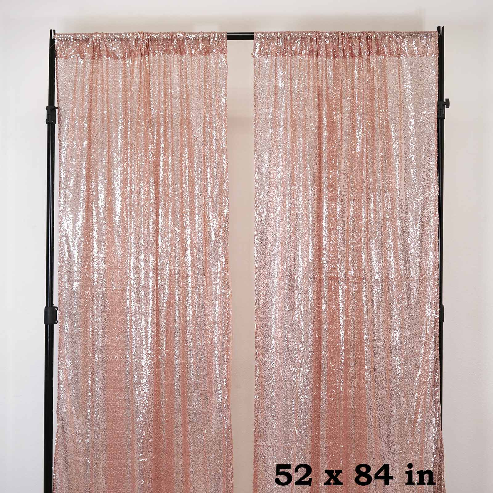 2 Pack 52 Quot X84 Sequin Curtains With Rod Pocket Window