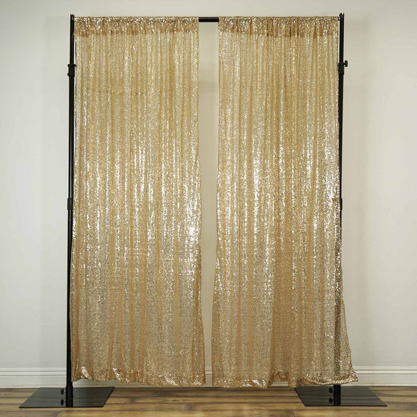 2 Pack 52 Quot X84 Champagne Sequin Curtains With Rod Pocket