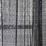 "Pack of 2 | 52""x96"" Black Sequin Curtains With Rod Pocket Window Treatment Panels"