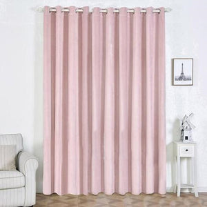 "2 Pack | 52""X108"" Premium Velvet Thermal Blackout Curtains With Chrome Grommet Window Treatment Panels Rose Gold 