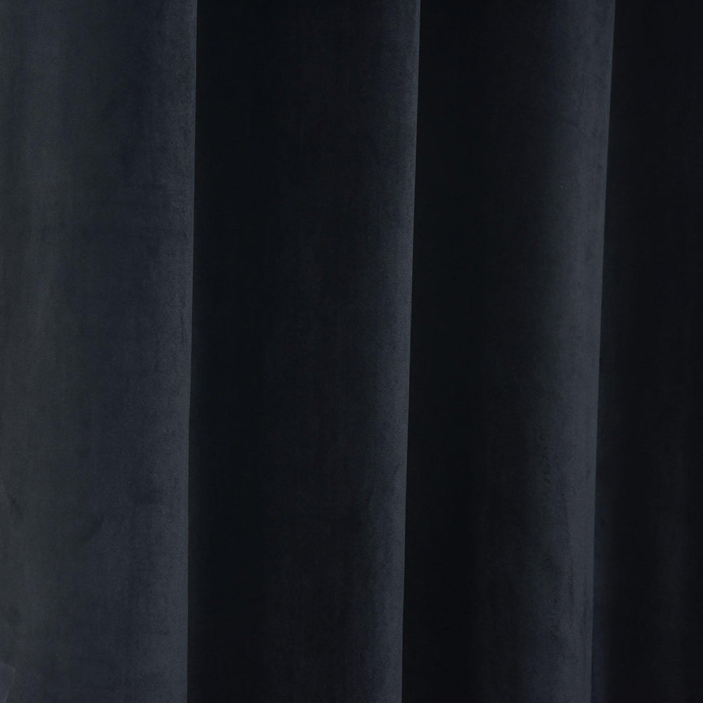 "Blackout Curtains Premium Velvet 52""X108"" Black Pack of 2 Thermal ... for Black Curtains Texture  153tgx"