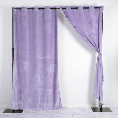 "330 GSM Lavender Blackout Curtains | Pack of 2 | 52""x108"" Grommet Curtains 