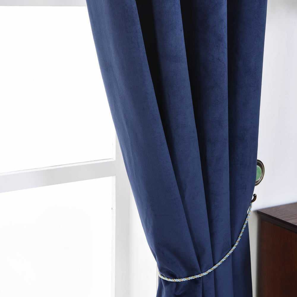 Navy Blue Blackout Curtains 2 Packs 52 X 108 Inch