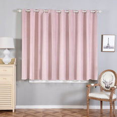 Blush Blackout Curtains | Pack of 2 | 52 x 64 Inch Grommet Curtains | Blackout Noise Reducing Curtains