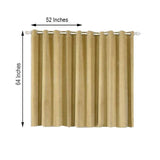 Champagne Blackout Curtain | Pack of 2 | 52 x 64 Inch Drop Curtains | Room Darkening Curtains With Grommets