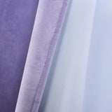 Lavender Blackout Curtains | Pack of 2 | 52 x 64 Inch Grommet Curtains | Velvet Blackout Curtains