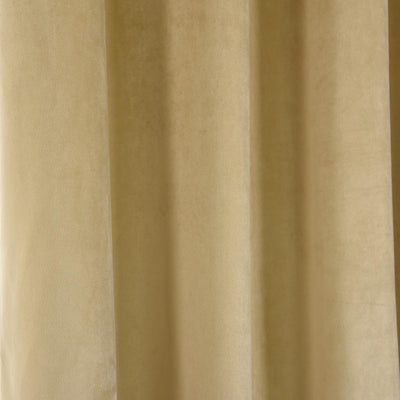 Champagne Blackout Curtain | Pack of 2 | 52 x 84 Inch Grommet Curtains | Eyelet Blackout Curtains