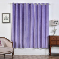 Lavender Blackout Curtains | Pack of 2 | 52 x 84 Inch Blackout Noise Reducing Curtains | Room Darkening Curtains With Grommets