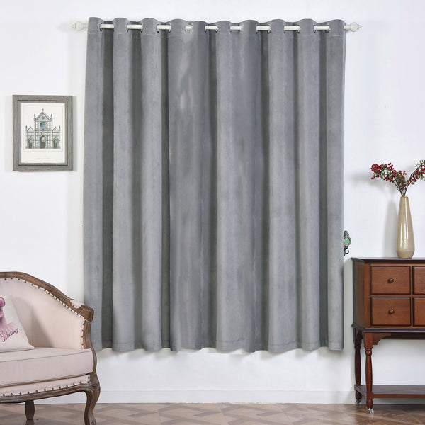"330 GSM Silver Blackout Curtains | Pack of 2 | 52""x84"" Blackout Curtains 