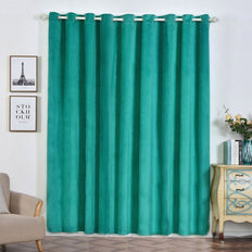 Teal Velvet Blackout Curtains | Pack of 2 | 52 x 96 Inch Blackout Curtains | Room Darkener Curtains