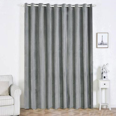 Charcoal Gray Blackout Curtains  | Pack of 2 | 52 x 108 inch Blackout Curtains | Room Darkening Curtains With Grommets