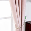 "Blush Blackout Curtains | 2 Packs | 52 x 108"" Velvet Curtains 
