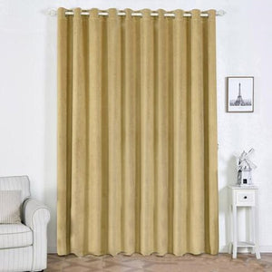 Champagne Blackout Curtains | 2 Packs | 52 x 108 Inch Blackout Curtains | Room Darkening Curtains With Grommets