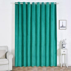 Teal Velvet Blackout Curtains | Pack of 2 | 52 x 108 Inch Blackout Curtains | Room Darkening Curtains With Grommets