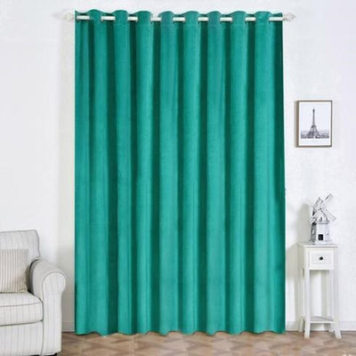 "2 Pack | 52""X108"" Teal Soft Velvet Thermal Blackout Curtains With Chrome Grommet Window Treatment Panels"