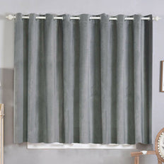 Charcoal Gray Blackout Curtains | Pack of 2 | 52 x 64 Inch Grommet Curtains | Noise Cancelling Curtains