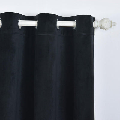 Black Soundproof Curtains | 2 Packs | 52 x 64 Inch Long Curtains | Velvet Soundproof Curtains With Grommets