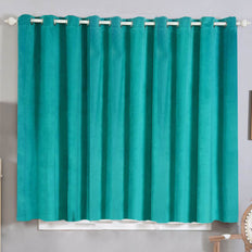 Teal Velvet Curtains | Pack of 2 | 52 x 64 Inch Grommet Curtains | Noise Cancelling Curtains
