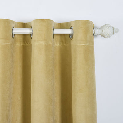 Champagne Blackout Curtain | Pack of 2 | 52 x 84 Inch Grommet Curtains | Noise Cancelling Curtains