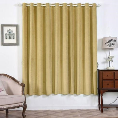 Champagne Blackout Curtain | 2 Packs | 52 x 84 Inch Grommet Curtains | Noise Cancelling Curtains