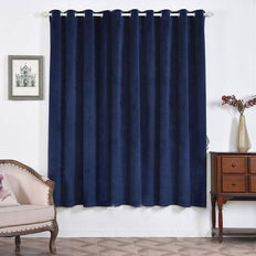 Navy Blue Blackout Curtains | 2 Packs | 52 x 84 Inch Blackout Curtains | Room Darkener Curtains
