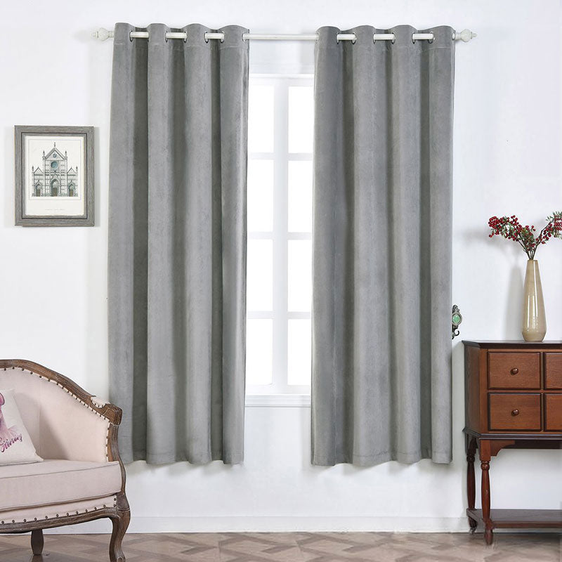 Silver Blackout Curtains 2 Packs 52 X 84 Inch Grommet