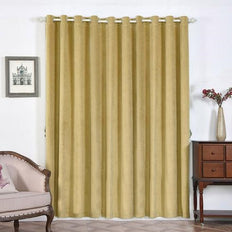 Champagne Blackout Curtains | Pack of 2 | 52 x 96 Inch Grommet Curtains | Velvet Blackout Curtains