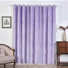 Lavender Blackout Curtains | Pack of 2 | 52 x 96 Inch Grommet Curtains | Room Darkener Curtains