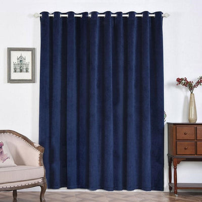 Navy Blue Blackout Curtains | 2 Packs | 52 x 96 Inch Blackout Curtains | Velvet Soundproof Curtains With Grommets