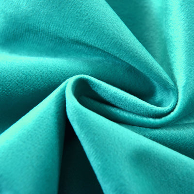 "2 Pack | 52""X96"" Teal Soft Velvet Thermal Blackout Curtains With Chrome Grommet Window Treatment Panels"